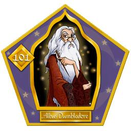 Carte Chocogrenouille d'Albus Dumbledore