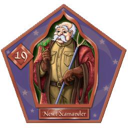 Carte Chocogrenouille de Newt Scamander