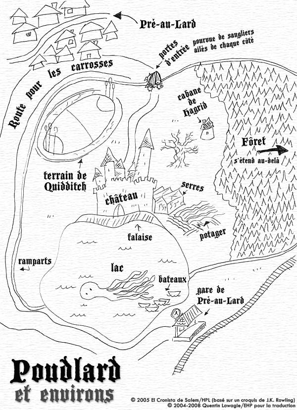 Carte de Poudlard et environs