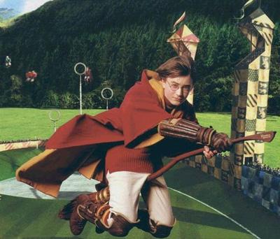 Harry sur son balai