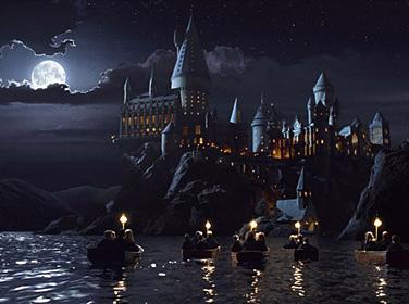 Les 1ère année guidés par Hagrid le 1er septembre 1991 dans ES/f