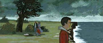Fan art de Harry sur la falaise après la mort de Dobby