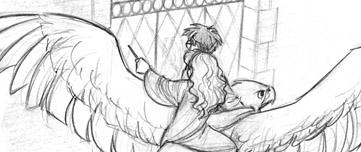 Fan art de Harry et Hermione secourant Sirius