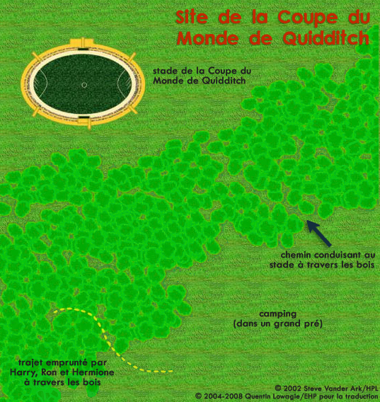 Carte du site de la Coupe du Monde de Quidditch
