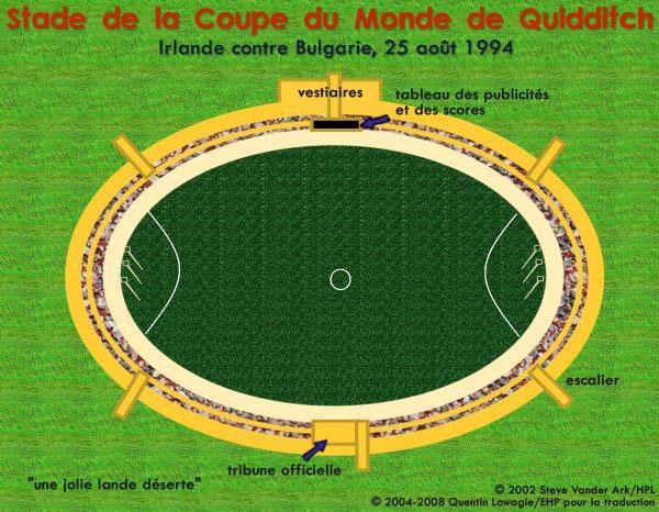 Carte du stade de la Coupe du Monde de Quidditch