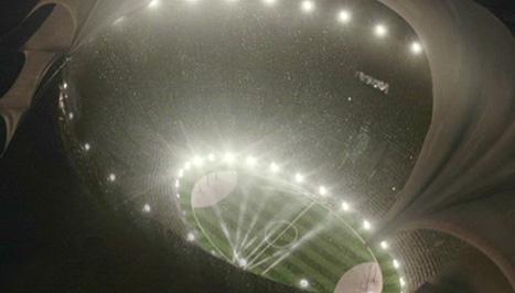 Vue plongeante du stade de la Coupe du Monde de Quidditch 1994 dans CF/f