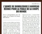 L'armée de Dumbledore à nouveau réunie pour la finale de la coupe du monde