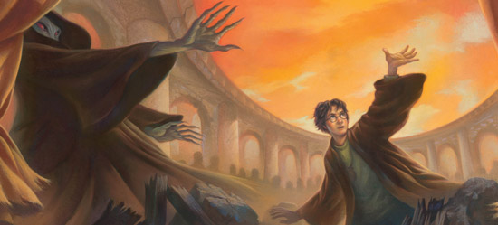 Dessin de Harry et Voldemort