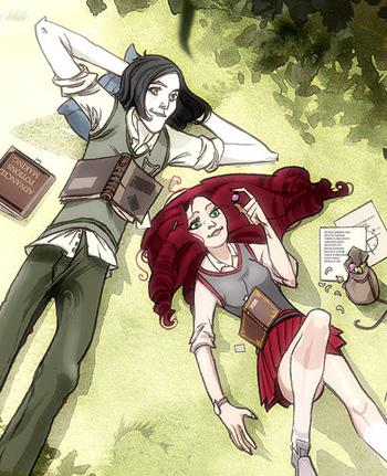 Dessin Severus et Lily (jeunes)