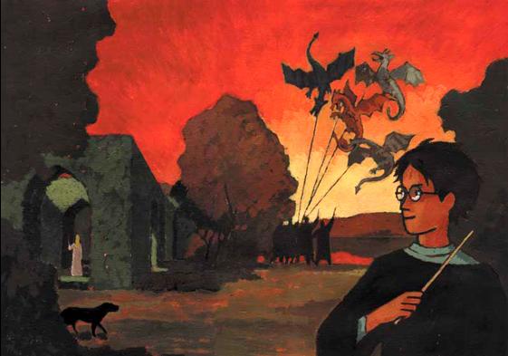 Peinture complète de Harry Potter et la Coupe de Feu - J-C Götting