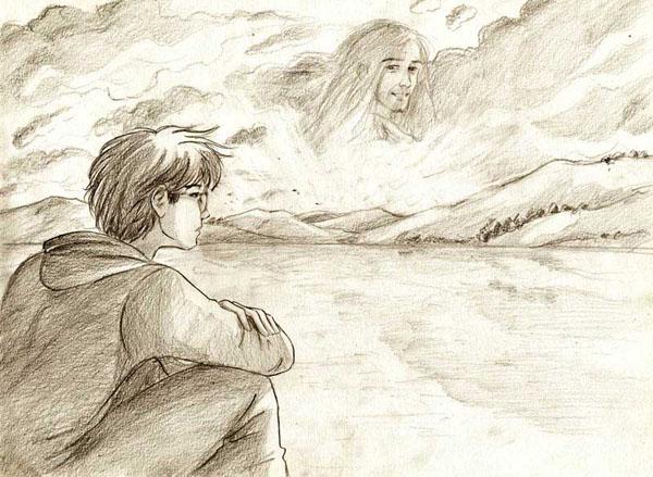 Dessin de Harry en deuil de Sirius