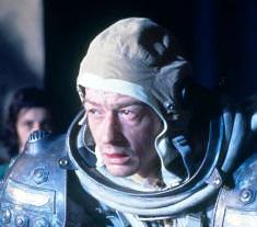 John Hurt sur le tournage d'Alien (1979)