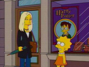 JKR dans « The Simpsons », épisode « Homer rentre dans la reine »