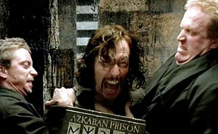 Image de l'arrestation de Sirius Black tirée des films