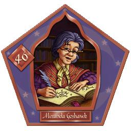 Carte chocogrenouille 40, Miranda Goshawk