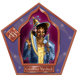 Carte chocogrenouille 88, Celestina Warbeck