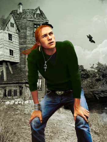 Bill Weasley devant le Terrier (basé sur Heath Ledger)