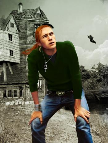 Bill Weasley devant le Terrier (basé sur Heath Ledger)