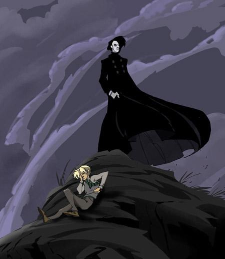 Drago et Rogue après la mort de Dumbledore