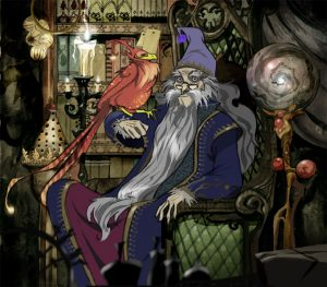 Dumbledore et Fumseck