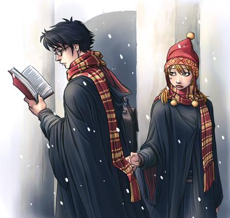 Harry et Ginny à Poudlard