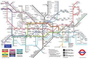 Carte du métro de Londres