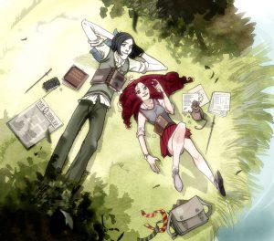 Severus Rogue et Lily Evans à Poudlard