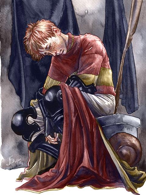 Ron doutant de ses capacités au Quidditch