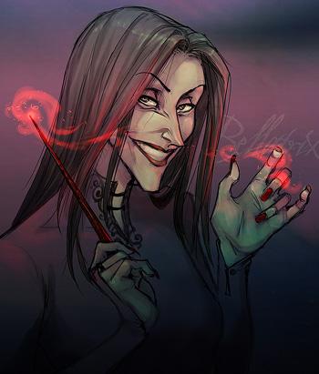 Portrait de Bellatrix Lestrange