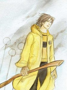 Cedric en tenue de Quidditch