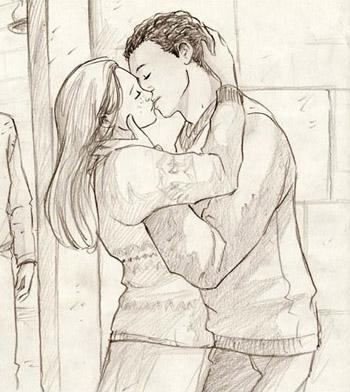 Dean et Ginny s'embrassant
