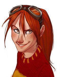 Ginny en tenue de Quidditch