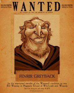 Affiche ''Wanted'' de Fenrir Greyback (été 1997)