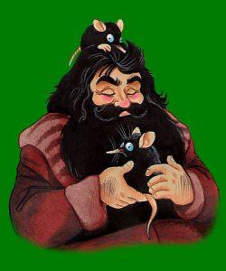 Dessin de Hagrid et deux Niffleurs