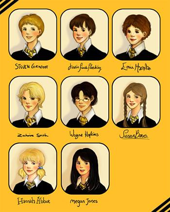 Portraits d'élèves de Poufsouffle