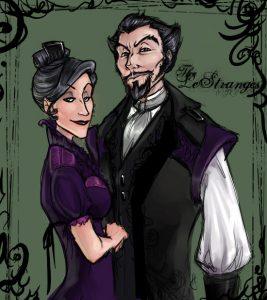 Portrait de Bellatrix et Rodolphus Lestrange