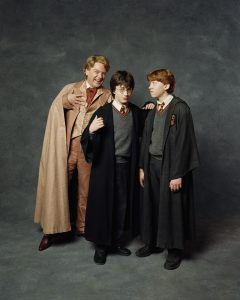 Portrait de Lockhart, Harry et Ron dans CS/f