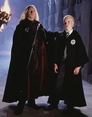 Drago et Lucius Malefoy à Poudlard