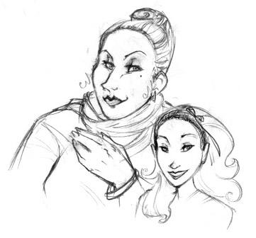 Dessin de Madame Maxime et Fleur