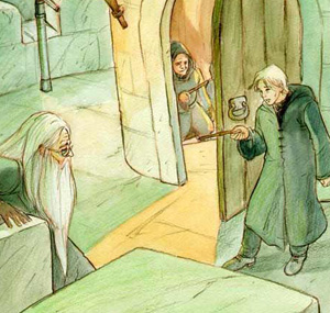 Dumbledore à la merci de Drago Malefoy