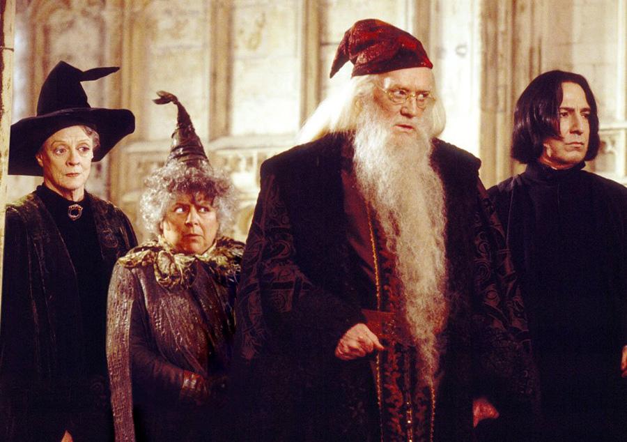 McGonagall, Chourave, Dumbledore et Rogue dans CS/f