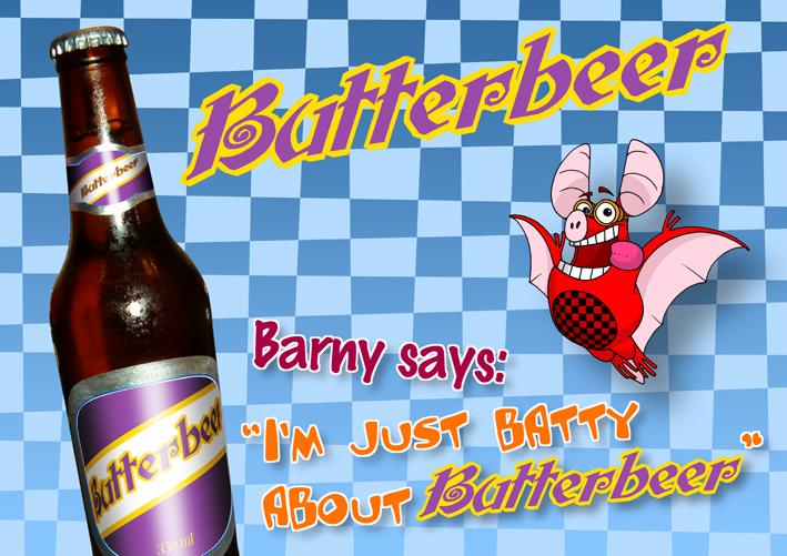 Publicité de Barny la roussette pour la Bièraubeurre