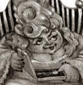 Portrait d'Hepzibah Smith et le médaillon de Serpentard