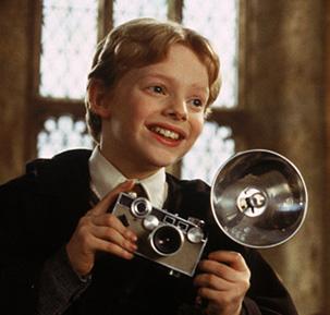 Colin Crivey et son appareil photo dans CS/f