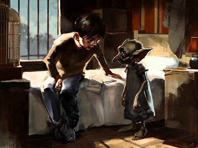 Dobby et Harry par Adam Brockbank