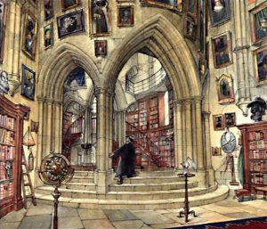 Harry découvrant le bureau de Dumbledore (projet pour CS/f)