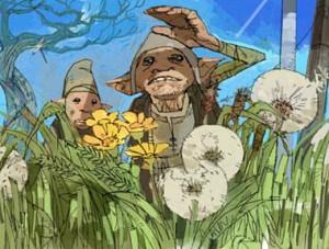 les gnomes au Terrier (projet pour CS/f) par Dermot Power