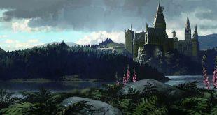 Vue du château de Poudlard (projet pour PA/f) par Dermot Power