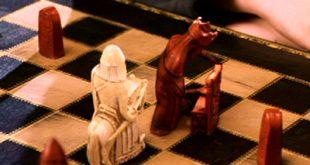 Dessin du jeu d'échecs version sorcier dans ES/f