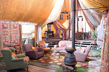 la tente des Weasley dans CF/f